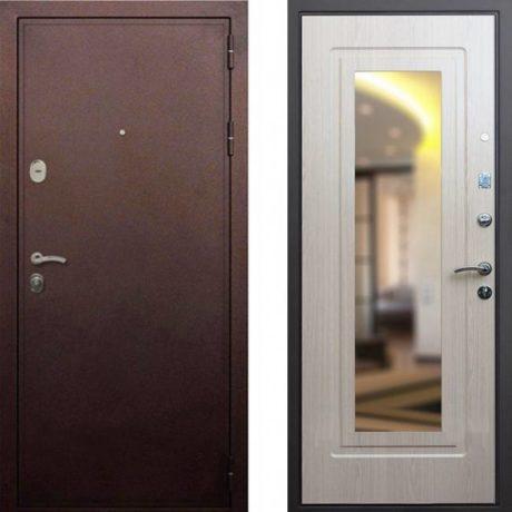 Фото дверь ДМ 5А Зеркало Беленый дуб