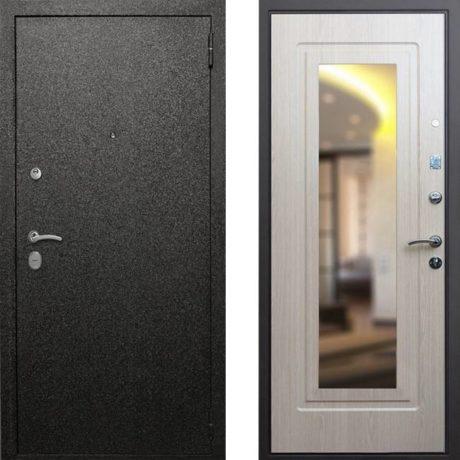 Фото дверь ДМ Верона 6 Зеркало Беленый Дуб