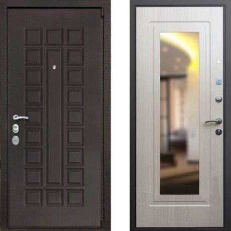 Фото дверь ДМ 4A Mottura Зеркало Беленый дуб