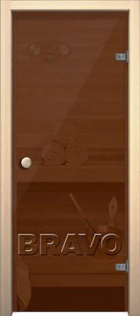 Фото дверь Кноб Е Бронза тонированное