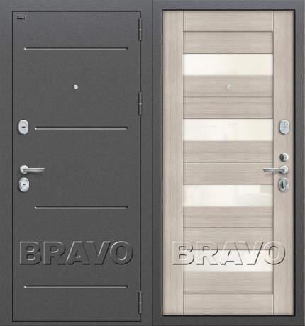 Фото дверь Т2-223 Cappuccino Veralinga/White Pearl