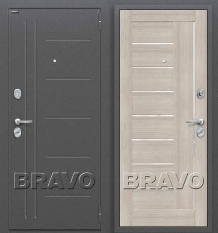 Фото дверь Проф Cappuccino Veralinga/White Pearl