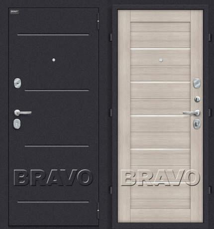 Фото дверь Техно Cappuccino Veralinga/White Pearl