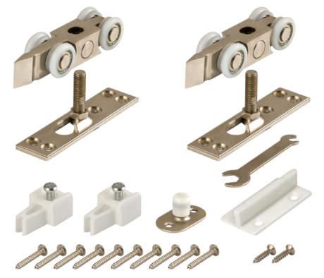 Фото дверь Комплект Armadillo (Армадилло) роликов для раздвижных дверей DIY Comfort 80/4 kit (877+882)