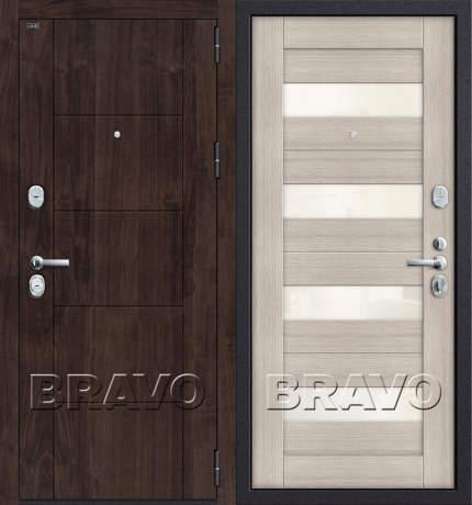 Фото дверь T3-223  П-28 (Темная Вишня)/Cappuccino Veralinga