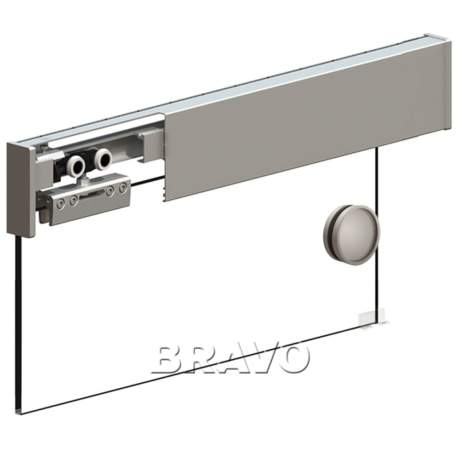Фото дверь Раздвижная система Herkules Glass 2000 Серебро