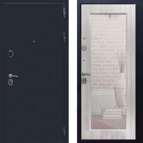 Фото дверь ДМ 5А Зеркало Пастораль Ясень белый