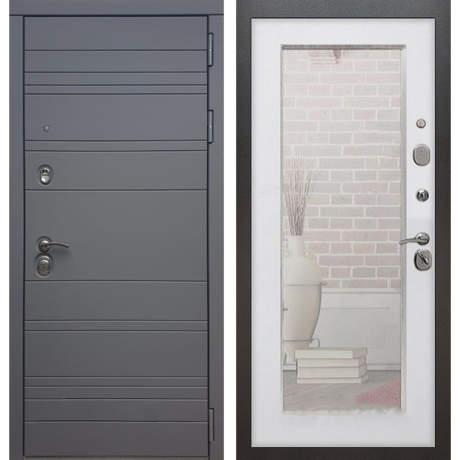 Фото дверь ДМ 14 Зеркало пастораль Белый ясень