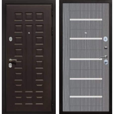 Фото дверь ДМ Премиум 3 CБ-14 Лиственница серая + белое стекло
